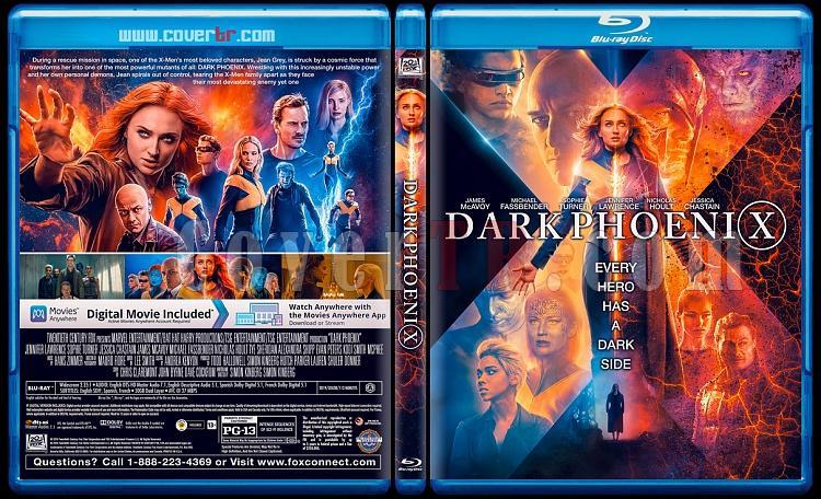 X-Men : Dark Phoenix - Custom Bluray Cover - English [2019]-2jpg