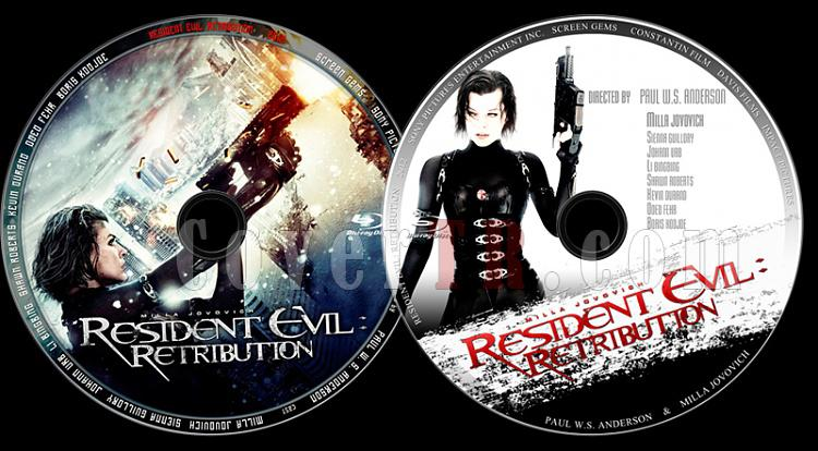 Resident Evil: Retribution (Resident Evil 5: İntikam) - Custom Bluray Label Set - English [2012]-resident-evil-retribution-resident-evil-5-intikam-custom-bluray-label-setjpg