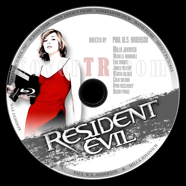 Resident Evil (Ölümcül Deney) - Custom Bluray Label - English [2002]-1jpg