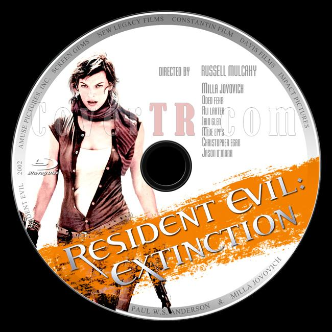 Resident Evil: Extinction (Ölümcül Deney: İnsanlığın Sonu) - Custom Bluray Label - English [2007]-3jpg
