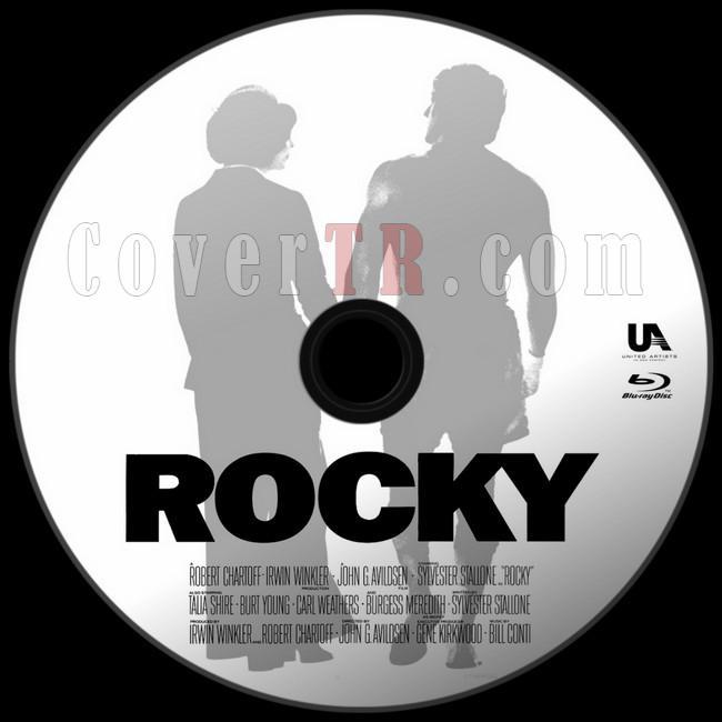 Rocky - Custom Bluray Label - English [1976]-asdjpg