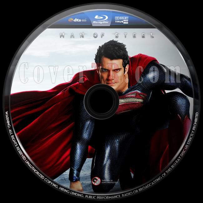 Man of Steel  (Çelik Adam) - Custom Bluray Label - English [2013]-sdasdjpg