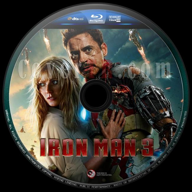 Iron Man 3 (Demir Adam3) - Custom Bluray Label - English [2013]-iron-man-3-6jpg