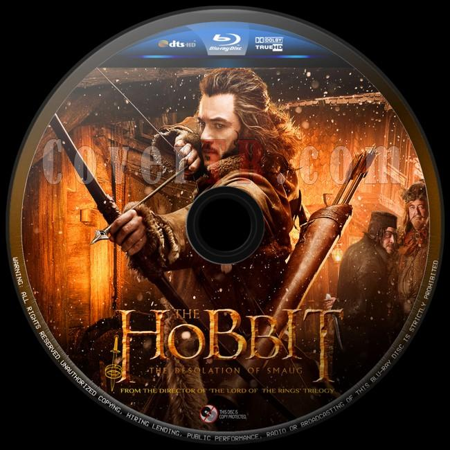 The Hobbit The Desolation of Smaug (Hobbit Smaug'un Viranesi)  - Custom Bluray Label - English [2013]-hobbit-smaugun-viranesi-4jpg