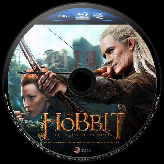 The Hobbit The Desolation of Smaug (Hobbit Smaug'un Viranesi)  - Custom Bluray Label - English [2013]-hobbit-smaugun-viranesi-8jpg