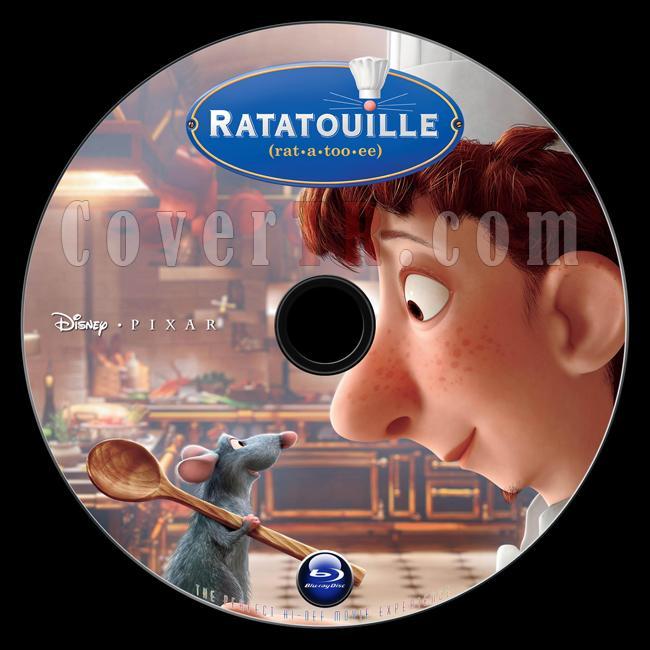 Ratatouille (Aşçı Fare) - Custom Bluray Label - English [2007]-ratatouille_bd_label_custom_flyers2thecup_v1-1jpg