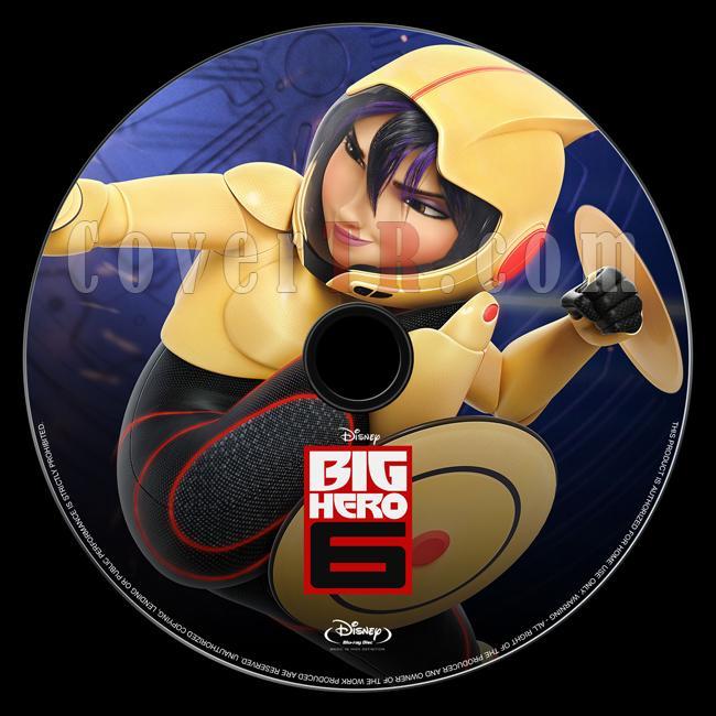 Big Hero 6 (Süper Kahraman 6) - Bluray Custom Label - English [2014]-onizlemejpg