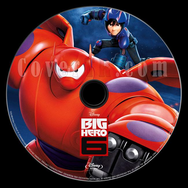 Big Hero 6 (Süper Kahraman 6) - Bluray Custom Label - English [2014]-onizlemejpg
