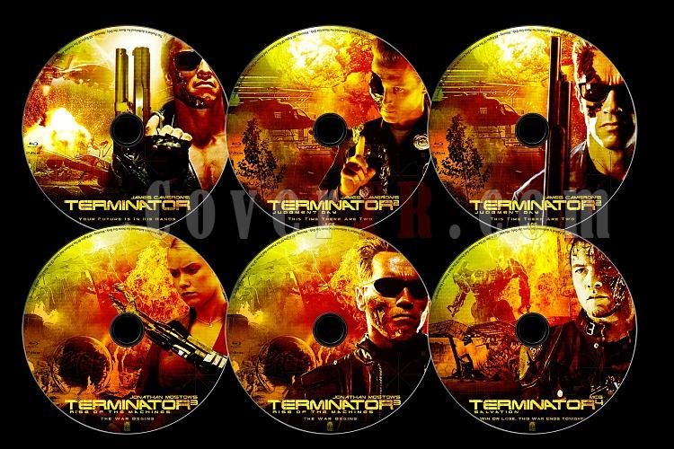 Terminator Collection - Custom Bluray Label Set - English [1984-2009]-0jpg