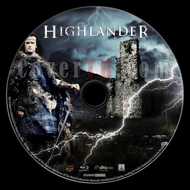 Highlander - Custom Bluray Label - English [1986]-highlander_bd_-by_matush_labeljpg