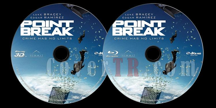 Point Break - Custom Bluray Label - English [2015]-onizlemejpg
