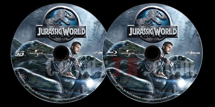 Jurassic World (Jurassic Park 4) - Custom Bluray Label - English [2015]-onizlemejpg