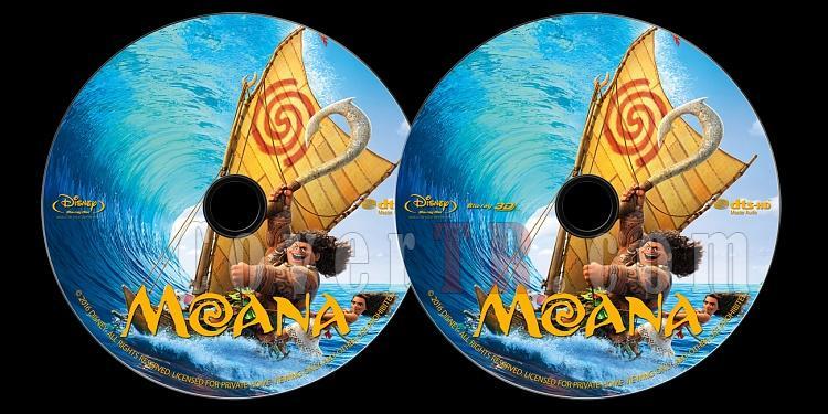 Moana - Custom Bluray Label - English [2016]-onizlemejpg