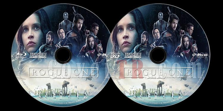 Rogue One: A Star Wars Story (Rogue One: Bir Star Wars Hikayesi) - Custom Bluray Label - English [2016]-onizlemejpg