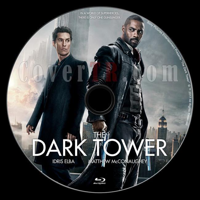 The Dark Tower (Kara Kule) - Custom Bluray Label - English [2017]-1jpg