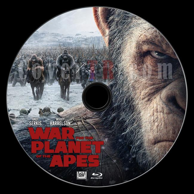 War for the Planet of the Apes - Custom Bluray Label - English [2017]-1jpg
