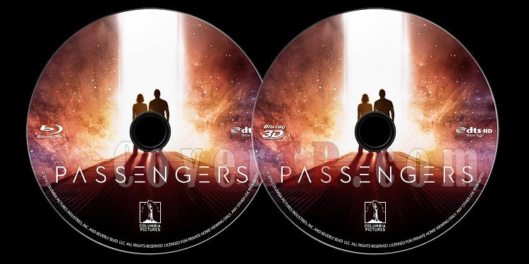 Passengers (Uzay Yolcuları) - Custom Bluray Label - English [2016]-onizlemejpg