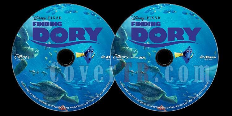 Finding Dory (Kayıp Balık Dori) - Custom Bluray Label - English [2016]-onizlemejpg