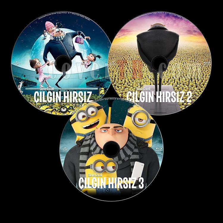 Despicable Me Collection (Çılgın Hırsız Koleksiyonu) - Custom Bluray Label Set - English-previewalljpg