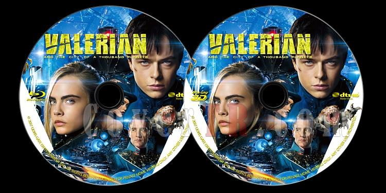 Valerian and the City of a Thousand Planets (Valerian ve Bin Gezegen İmparatorluğu) - Custom Bluray Label - English [2017]-onizlemejpg