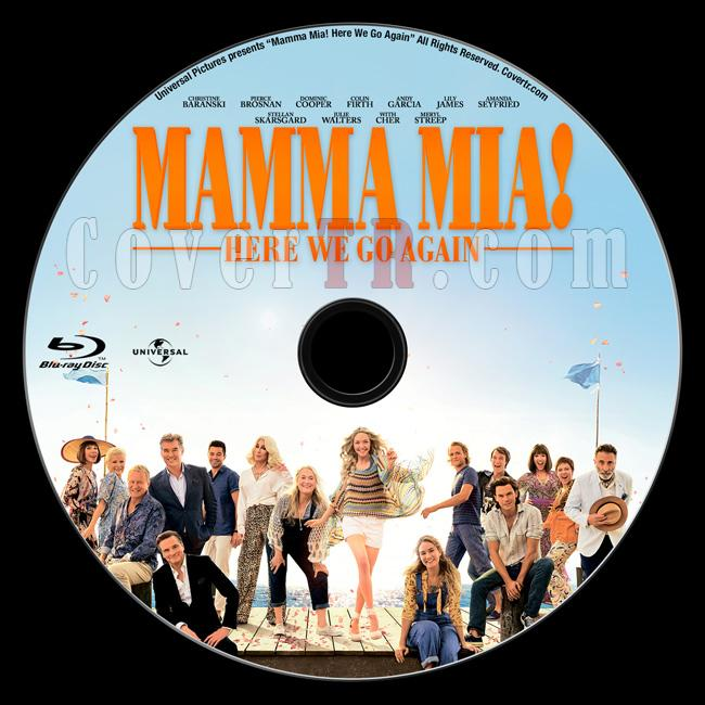 Mamma Mia! Here We Go Again (Mamma Mia! Yeniden Başlıyoruz) - Custom Bluray Label - English [2018]-01jpg