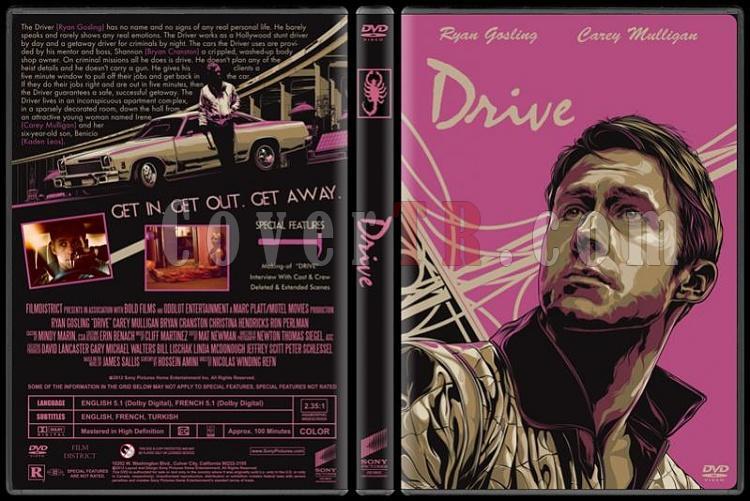 Drive (Sürücü) - Custom Dvd Cover - English [2011]-driver-dvd-cover-rd-cd-resjpg