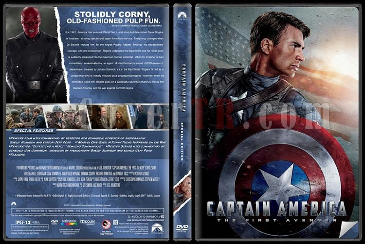 Captain America: The First Avenger (İlk Yenilmez: Kaptan Amerika) - Custom Dvd Cover - English [2011]-captain-america-dvdjpg