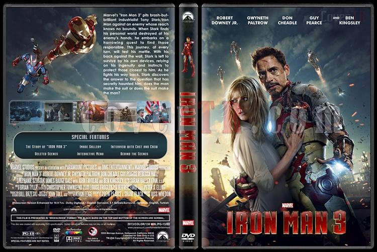 Iron Man 3 (Demir Adam 3) - Custom Dvd Cover - English [2013]-iron-man-3-dvd-cover-rd-cd-v2-picjpg