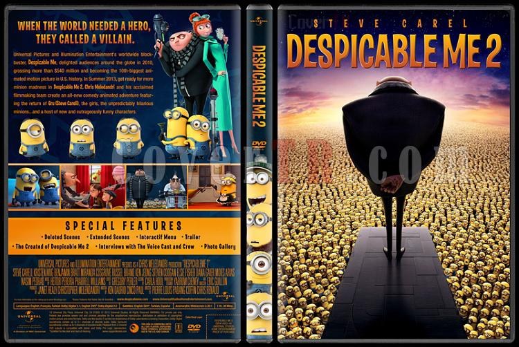 Despicable Me 2 (Çılgın Hırsız 2) - Custom Dvd Cover - English [2013]-despicable-me-2-onjpg