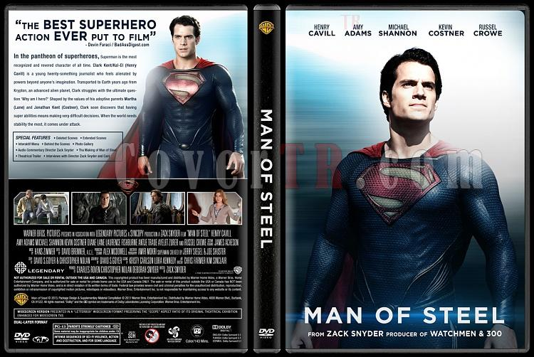 Man of Steel (Çelik Adam) - Custom Dvd Cover - English [2013]-engjpg