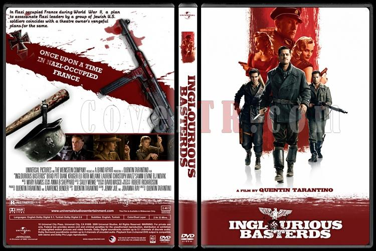 Inglourious Basterds (Soysuzlar Çetesi) - Custom Dvd Cover - English [2009]-inglourious-basterds-ctrjpg