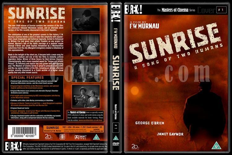 Sunrise (Şafak) - Custom Dvd Cover - English [1927]-sunrisejpg