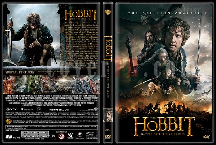The Hobbit: The Battle of Five Armies (Hobbit: Beş Ordunun Savaşı) - Custom Dvd Cover - English [2014]-v1jpg