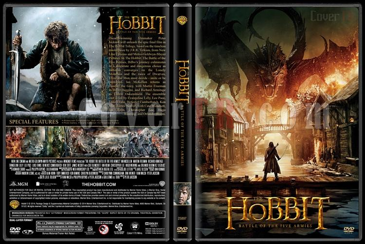 The Hobbit: The Battle of Five Armies (Hobbit: Beş Ordunun Savaşı) - Custom Dvd Cover - English [2014]-v2jpg