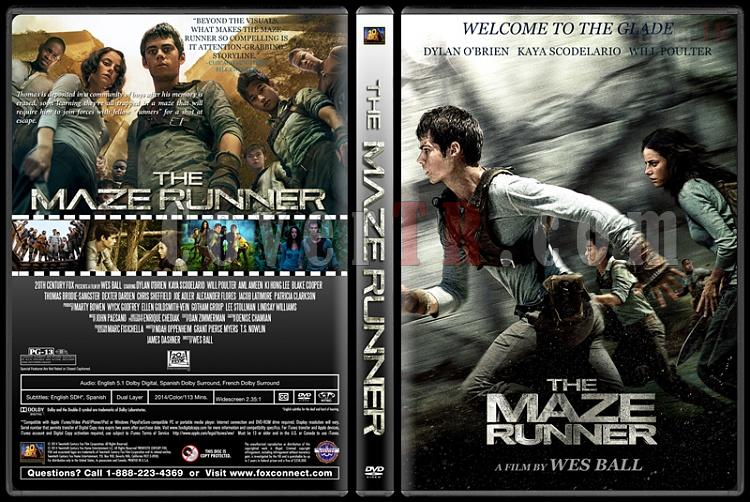 The Maze Runner (Labirent: Ölümcül Kaçış) - Custom Dvd Cover - English [2014]-standardjpg