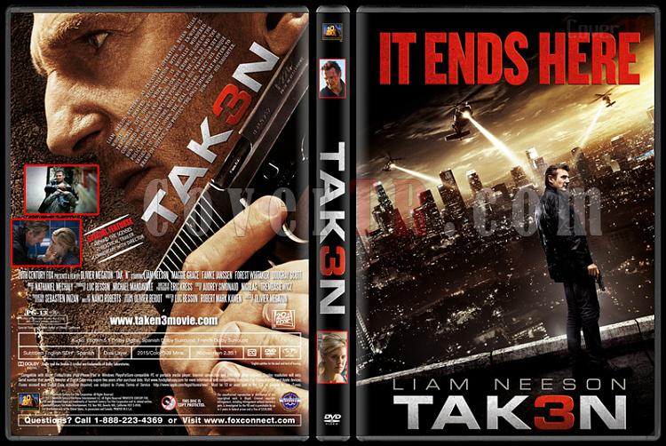 Taken 3 (Tak3n) - Custom DVD Cover - English [2015]-standardjpg