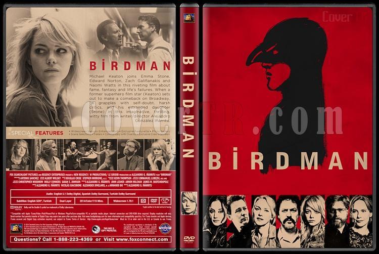 Birdman (Birdman veya Cahilliğin Umulmayan Erdemi) - Custom Dvd Cover - English [2015]-birdmanjpg