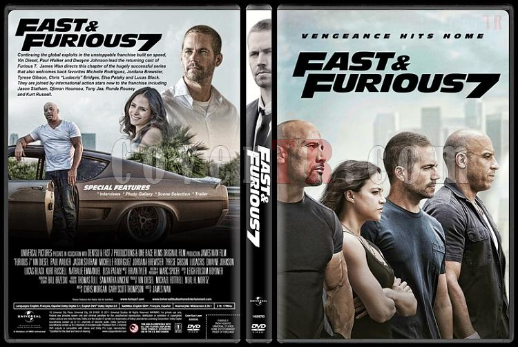 Fast & Furious 7 (Hızlı ve Öfkeli 7) - Custom Dvd Cover - English [2015]-2jpg