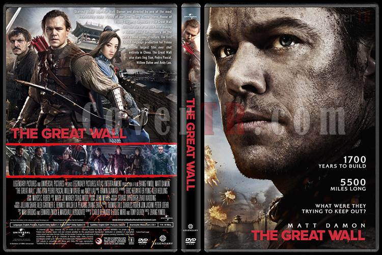 The Great Wall (Çin Seddi) - Custom Dvd Cover - English [2016] - CoverTR