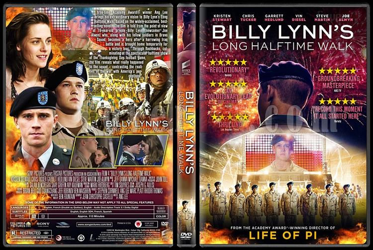 Billy Lynn's Long Halftime Walk - Custom Dvd Cover - English [2016]-standardjpg