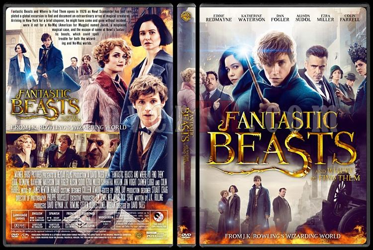 Fantastic Beasts and Where to Find Them - Custom Dvd Cover - English [2016]-v1jpg