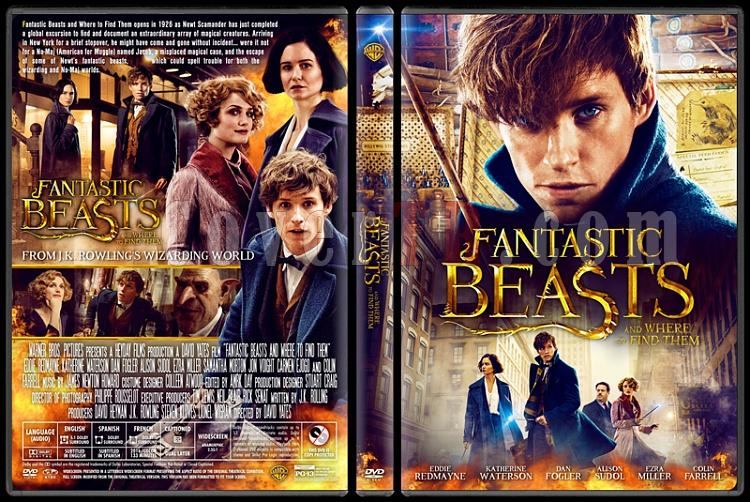 Fantastic Beasts and Where to Find Them - Custom Dvd Cover - English [2016]-v2jpg