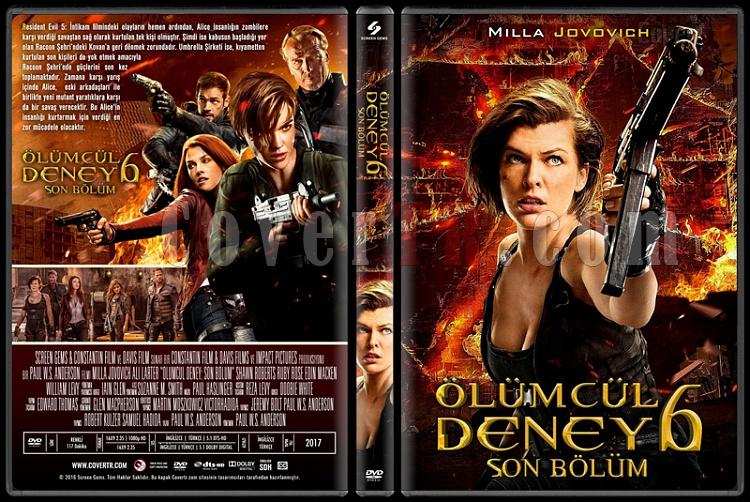 Resident Evil: The Final Chapter (Resident Evil: Son Bölüm) - Custom Dvd Cover - Türkçe [2017]-standardjpg