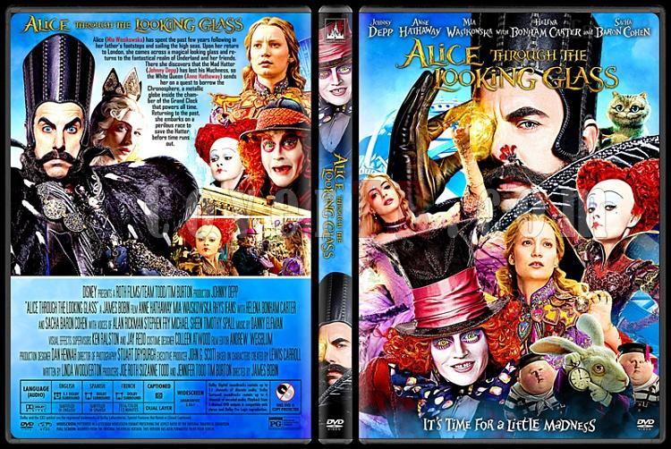 Alice Through the Looking Glass - Custom Dvd Cover - English [2016]-2jpg
