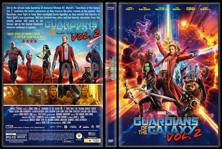 Guardians of the Galaxy Vol. 2 (Galaksinin Koruyucuları 2) - Custom Dvd Cover - English [2017]-1jpg
