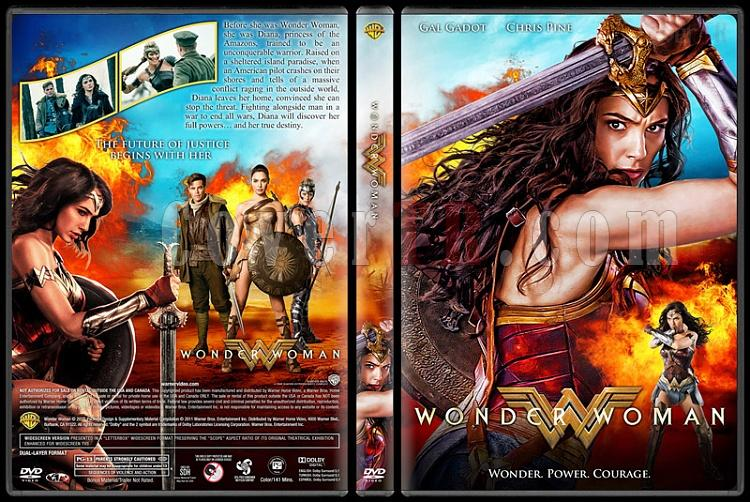 Wonder Woman - Custom Dvd Cover - English [2017]-1jpg