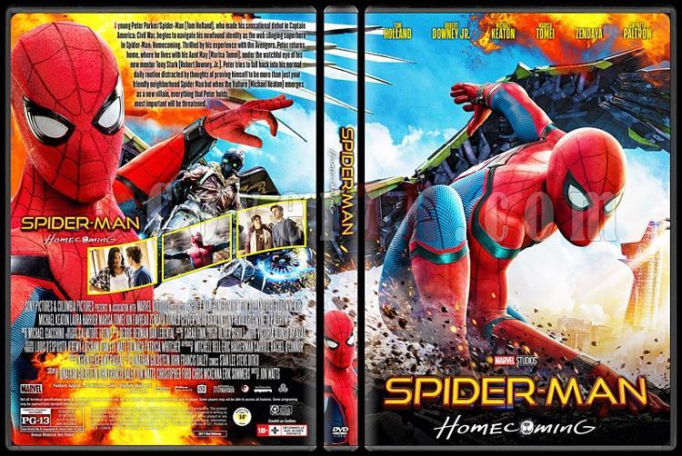 Spiderman Homecoming (Örümcek-Adam: Eve Dönüş) - Custom Dvd Cover - English [2017]-3jpg