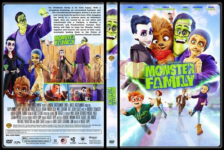 Monster Family - Happy Family (Mutlu Canavar Ailesi) - Custom Dvd Cover - English [2017]-m1jpg