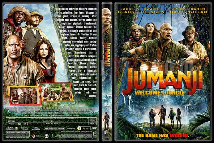 Jumanji: Welcome to the Jungle - Custom Dvd Cover - English [2017]-1jpg