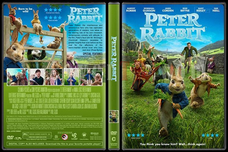 Peter Rabbit (Tavşan Peter) - Custom Dvd Cover - English [2018]-1jpg